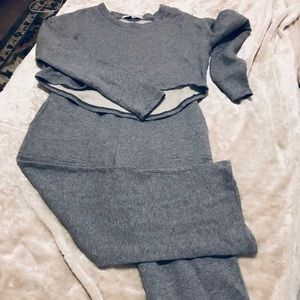 Free People NWOT crew neck crop sweatshirt & pants
